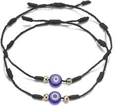 Amazon.com: JIAOGE <b>2Pcs</b> Evil Eye Bracelets <b>Hand</b>-Woven ...