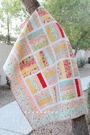 Best 25+ Jellyroll quilt patterns ideas on Pinterest | Quilt ... & Jelly Roll Baby Quilt featuring Sweetest Thing designed by Zoe Pearn for  Riley Blake Designs Adamdwight.com