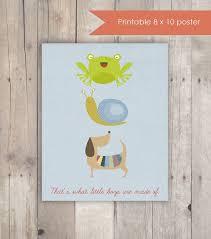 Printable Nursery Decor Frogs Snails Puppy Dog by KandCCreative, $5.00 |  Nursery rhyme art, Nursery rhymes, Nursery