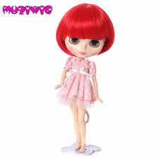 <b>Korea High Temperature Fiber</b> Red Bob With Straight Bangs Short ...
