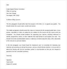Letter Of Appeal Sample Template Impressive Appeal Letter Format Bravebtr