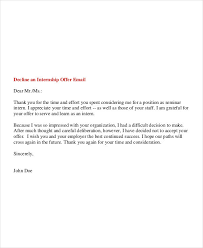 Free 6 Internship Email Examples Samples In Pdf Examples