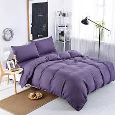 home textiles dark purple solid color bedding sets bedspread king