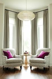 furniture for bay window. Bay Window Decorated With Chairs And Table Neutral Curtains : Beautiful Furniture For D