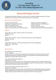 Sample Hotel Resume Curriculum Vitae To Hotel 20