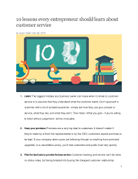 Simmons Customer Service Faith Simmons Article 10 Lessons Every Entrepreneur Should