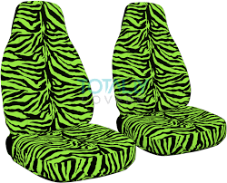 lime green zebra car seat covers