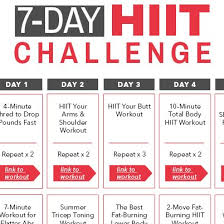 7 day get in shape home workout challenge 7 minute weight loss workout total body toning routine