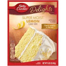Betty Crocker Super Moist Lemon Cake Mix 1525oz 432g American