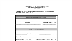 employee termination form template sample employee termination form 8 examples in word pdf