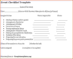 Template For Event Planning Checklist Yupar Magdalene