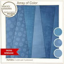 Download Paper Array Of Color Digital Paper Pack Blue Instant Download