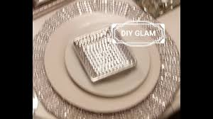 diy blinged out glam charger bonus tablescape