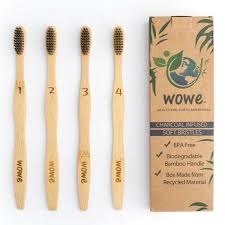 <b>Eco</b>-<b>Friendly</b>, Natural <b>Bamboo</b> Toothbrush with <b>Charcoal</b> Infused ...