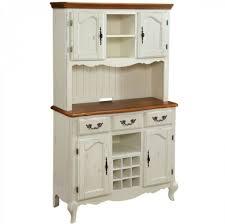 kitchen design vintage white kitchen buffet with hutch featuring bottom raised panel antique brass pull