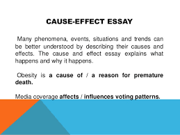 academic writing cause effect essay
