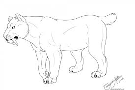 Small Picture Sabertooth Tiger Coloring Pages Saber Tooth Tiger Coloring Pages