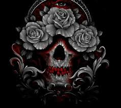animated skull cell phone wallpapers. skull and roses get wallpaper animated cell phone wallpapers