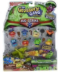 Grossery Gang Vile Vending Machine Impressive Amazon The Grossery Gang S48 Bug Strike Large Pack Toys Games