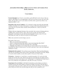 Best Solutions Of Good Journalism Cover Letter Examples In Cover