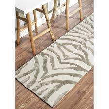 nuloom hand tufted wool iridescent zebra area rug gray