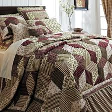 27 best King Quilt Sets On Sale images on Pinterest | Velvet ... & Burgundy Green Country Paisley Block Twin Queen Cal King Size Quilt Bedding  Set Adamdwight.com