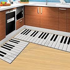 jackie 2 piece sets non slip piano keys design kitchen door soft rug bedroom