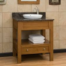 Bamboo Bathroom Cabinets 30 Milforde Bamboo Console Vanity With Semi Recessed Basin