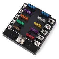 iztoss f z way car boat fuse block w fuses terminals iztoss f428 10 z 10 way car boat fuse block w fuses terminals black