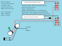wiring diagrams album on ur fender mustang w cobain style wiring for seymour duncan rails type pickup also works