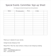 Name And Email Sign Up Sheet Template Sign Up Sheets 58 Free Word Excel Pdf Documents Download Free