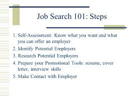 Finding A Job After Graduation  Welcome  Job Search 101  Self ...
