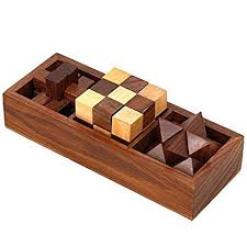 Wooden Games For Adults Mesmerizing Amazon 322inOne Wooden Puzzle Games Set 322D Puzzles For Teens