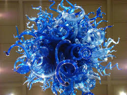 chihuly style glass chandelier