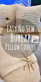How To Make Burlap Pillow Covers