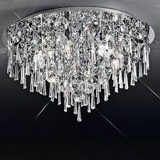 jazzy large flush crystal ceiling light cf5718