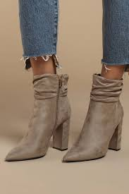 booties taupe susie suede slouchy booties