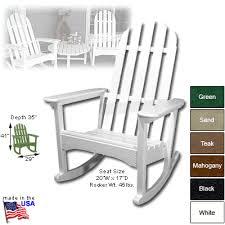 polywood adirondack rocking chairs. Brilliant Polywood POLYWOOD Adirondack Rocking Chair With Polywood Chairs A