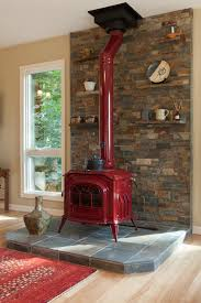 Wood Stove Living Room Design Wood Stove Rock Wall Ideas Home