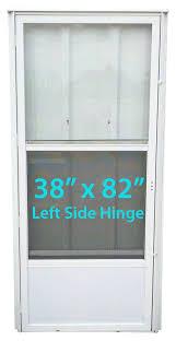 mobile home 38x82 standard storm door left hinge