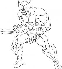 Marvel Coloring Pages Wolverine Coloringstar