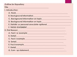 expository essay powerpoint russellrodrigo 25 outline for expository title