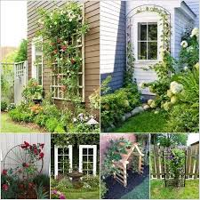 Does your garden have climbing plants and vines that are in need of a  trellis? If yes then you can make one yourself or purchase a ready made.
