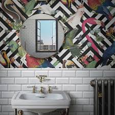 Mirror Design Wallpaper Can You Wallpaper A Bathroom And If So How Sophie Robinson