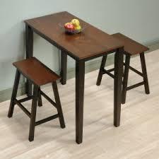 Sauder Beginnings 3 Piece Counter Height Dining Set - Cherry/Black Cherry Kitchen \u0026 Table Sets | Hayneedle