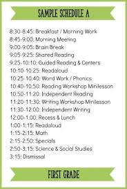 Class Timetable Template Simple Fitting It All In How To Schedule A Balanced Literacy Block For