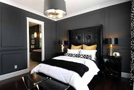 bold black and white bedrooms with