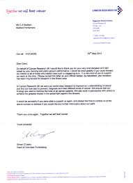 cancer research thank you thank you letter from cancer research uk for our donation from the seasons show