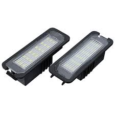 Lupo Lights Australia 18 Leds License Number Plate Lights White Can Bus Error Free Pair For Vw Golf Eos Passat Polo Cc