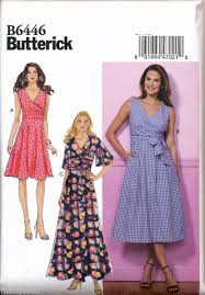 Wrap Dress Sewing Pattern Unique Butterick Sewing Pattern 48 Misses 4848 Pleated Or Flared Wrap
